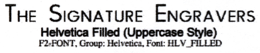 Filled (Uppercase Style)