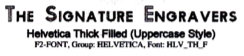 Thick Filled (Uppercase Style)